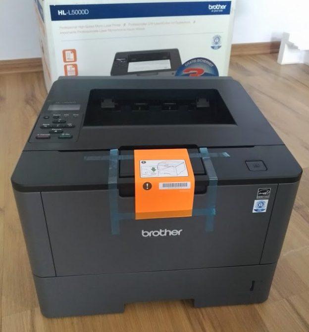 zmiana języka w drukarce brother HL-l500d